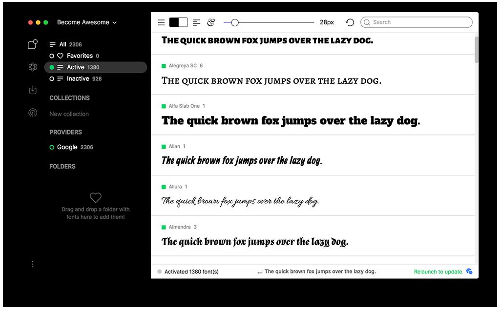 Best font manager for Mac OS | Free font management software